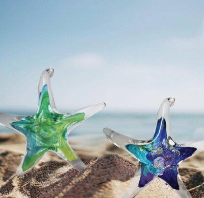 """Luke Adams Hand-blown Glass Starfish 3.5"""""""
