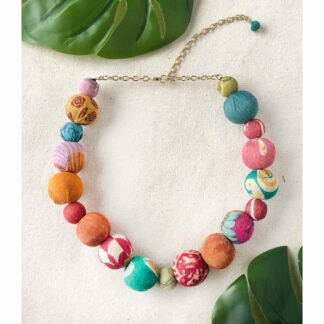 Kantha Bauble Collar Necklace