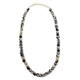 Kantha Chromatic Necklace Black and White