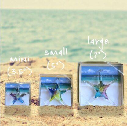 """Luke Adams Hand-blown Glass Starfish 7"""""""
