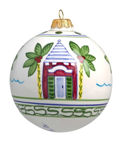 Three Butteries Large Christmas Ball Ornament