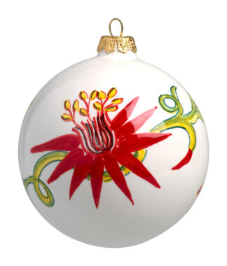 Passion Flower Large Christmas Ball Ornament