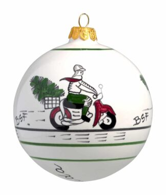 Moped Large Christmas Ball Ornament
