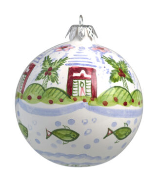 Pink Buttery Small Christmas Ball Ornament