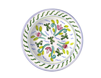 Tree Frog & Flower Medley Shallow Pasta Bowl