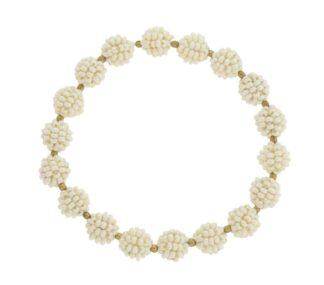 Boho Globe Bracelet in Pearl
