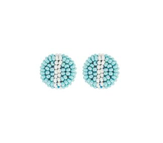 Button Earring in Turquoise
