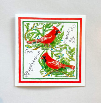 Two Red Birds Notecard