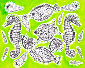 Under The Sea Medley in Lime