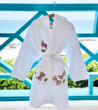 Terry Cloth Butterfly Robe - Medium