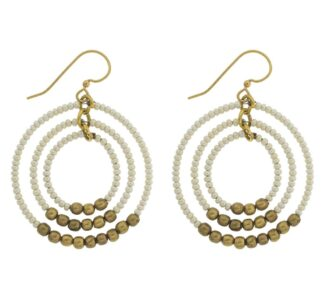 Gyroscope Earring Cream