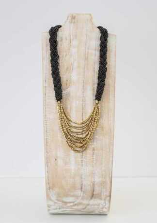 Braided Hema Black Necklace