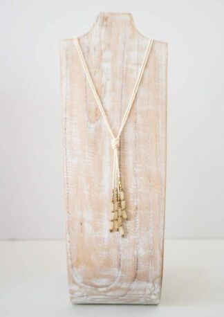 Hema Knot Cream Necklace