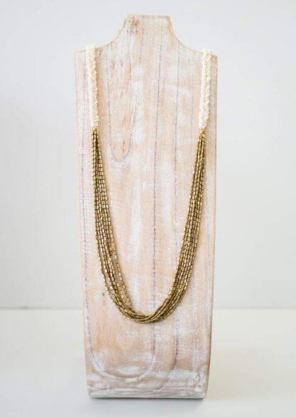 Hema Herringbone Cream Necklace