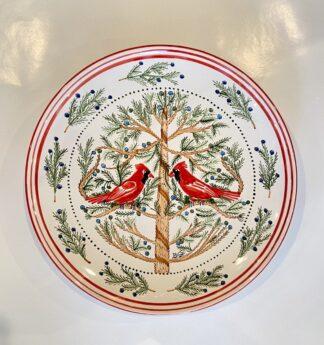 Bermuda Red Bird Round Platter