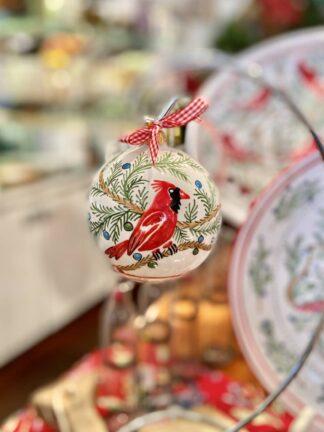 Bermuda Red Bird Christmas Ball Ornament