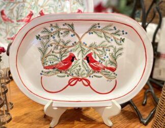 Bermuda Red Bird Oval Wide Platter