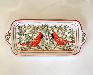 Bermuda Red Bird Butter Tray