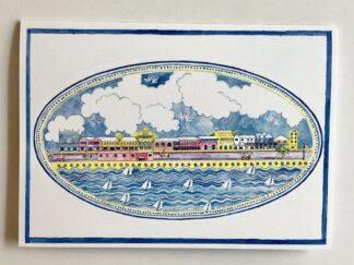 Front Street (platter) Notecard