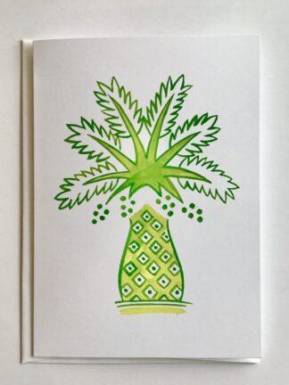 Pineapple Palm Notecard