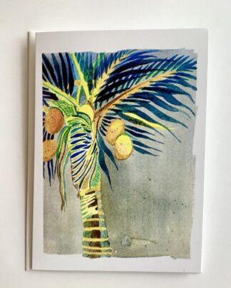 Watercolour Palm Notecard