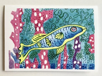 Happy Fish (12) Notecard