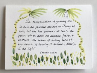 V. Woolf Quote Notecard