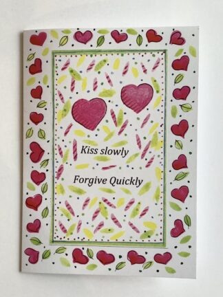 Kiss Slowly Valentine's Notecard