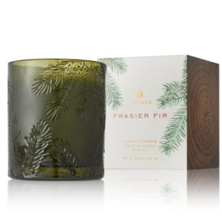 Frasier Fir Green Glass Candle
