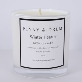 Winter Hearth Candle by Penny & Drum