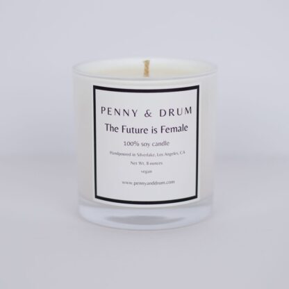 The Future is Female Candle by Penny & Drum