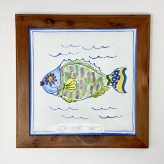 "Parrot Fish Bermuda Cedar Trivet - Large (10"")"