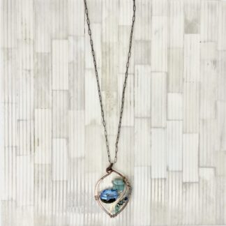 Art by Any Means Necklace with Blue Stones