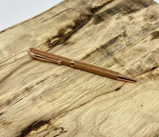 Bermuda Cedar Pen in Rose Gold (Slim)