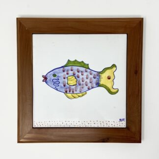 "Parrot Fish Bermuda Cedar Trivet - Small (8"")"