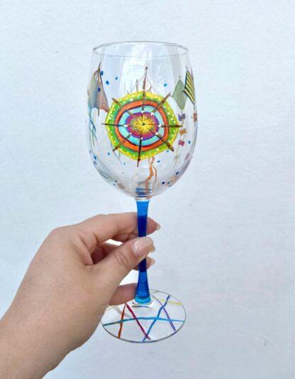 Bermuda Kite Wine Glass