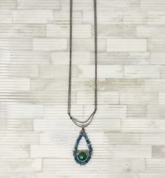 Art by Any Means Turquoise Tear Drop Necklace