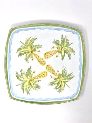 Palm Tree Square Platter