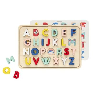 Wooden Multi-Language Alphabet Tray Puzzle