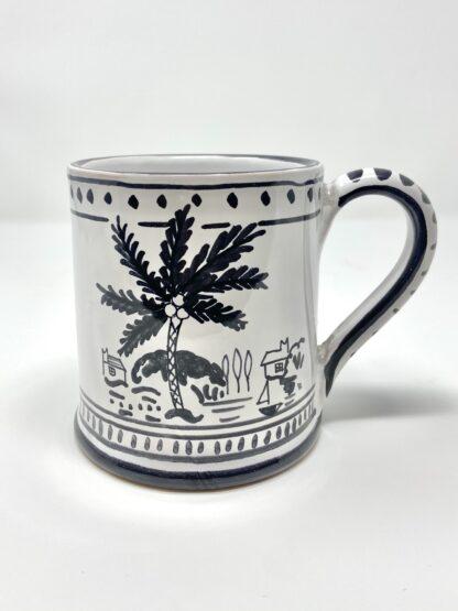 Black & White Sunset Dinghy Large Mug