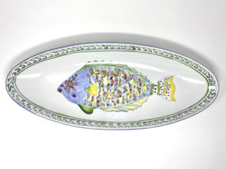 Parrot Fish Narrow Oval Platter