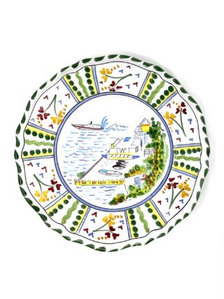 Water's Edge Scalloped Plate