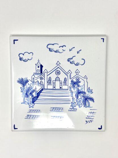 Blue & White St. Peter's Large Tile