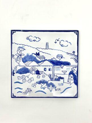 Blue & White Southampton Medium Tile