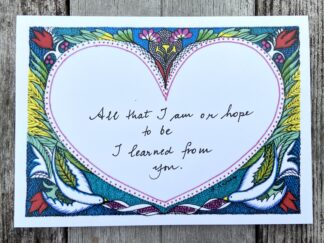 Mother's Day Card (All that I am)
