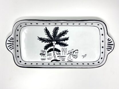 Black & White Sunset Dinghy Butter Tray