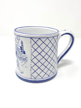 Blue & White Hamilton Harbor Large Mug