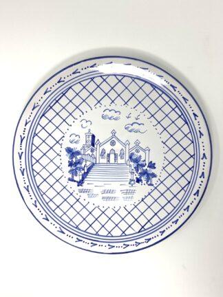 Blue & White St. Peter's Dinner Plate