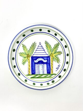 Blue Buttery Square Salad Plate
