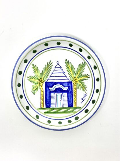 Blue Buttery Round Salad Plate